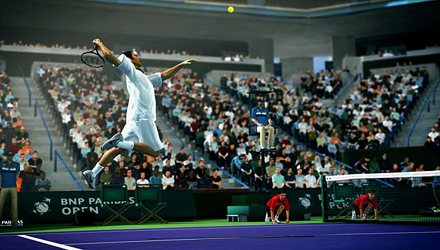 Top Spin 4 arrives on the relative heels of two of the most successful, engaging tennis games since Pong: Nintendo's crossover smash Wii Sports and EA Sports' Grand Slam Tennis. But rather than depend on the arcade-style action of those Wii-exclusive titles, 2KSports' latest tennis sim places heavy emphasis on ultra-realistic gameplay framed by a true-to-life, TV-style presentation.   Each of the four colored buttons corresponds with one of four basic shot types -- flat, slice, top spin and lob -- while the shoulder buttons allow you to deploy them as control or power shots. The variety of shotmaking allows for sophisticated point construction that will please tennis junkies.   Licensed tournaments include three of the Grand Slams (the Wimbledon stand-in is played in Dublin), three Masters 1000 events (Indian Wells, Miami and Paris) along with the ATP World Tour Finals in London. Thirty-three other tournaments -- from the clay of Madrid to the carpet of Kiev -- lend an authentic, globetrotting feel to the extensive career mode, where you build a player up through minor Challenger tournaments before cracking the top flight.   The character creation tool is deep, but there's no shortage of real-life talent: Current stars include Rafael Nadal, Novak Djokovic, Roger Federer, Serena Williams and Caroline Wozniacki, while playable legends include Pete Sampras, Andre Agassi, Bjorn Borg, Ivan Lendl and Michael Chang. The steep learning curve of Top Spin 4 might not be a hit with casual fan, but gamers in search of a faithful tennis sim won't be disappointed.  Score: 8 out of 10