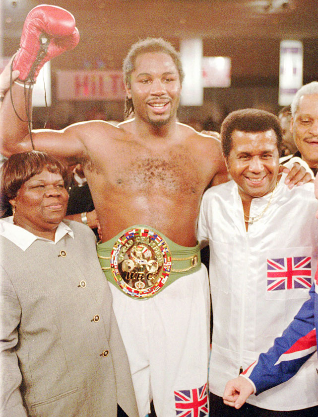 Lewis recaptured the WBC heavyweight title with a fifth-round TKO of Oliver McCall on Feb. 7, 1997.