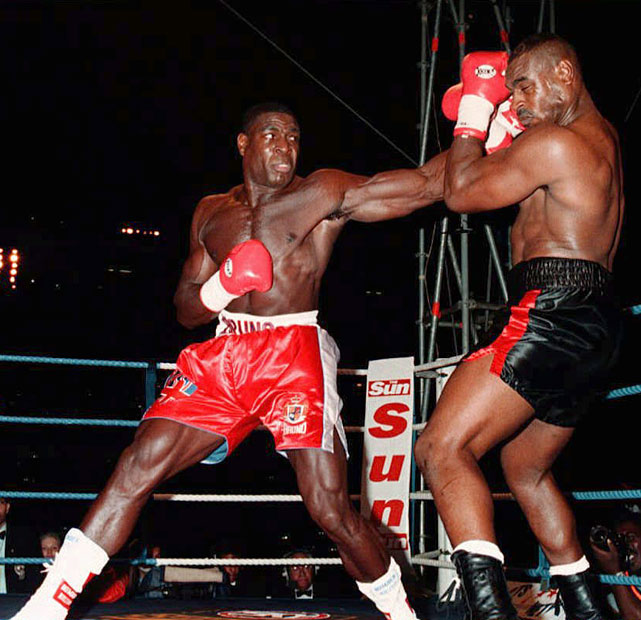 After three losses in heavyweight title fights, the south Londoner finally broke through near the end of his career. At 33, Bruno outpointed Oliver McCall for the WBC heavyweight title at Wembley Stadium on Sept. 2, 1995.
