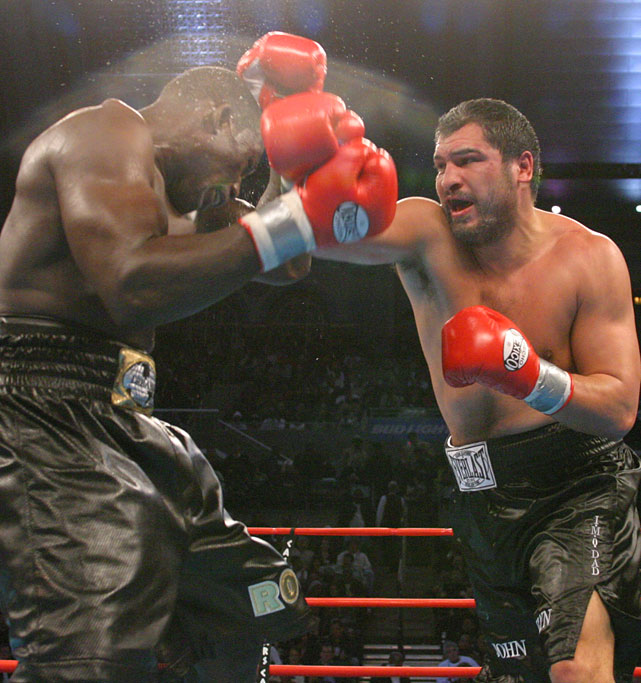 """The Quiet Man"" ( right ) outpointed Hasim Rahman for the interim WBA heavyweight title on Dec. 13, 2003."