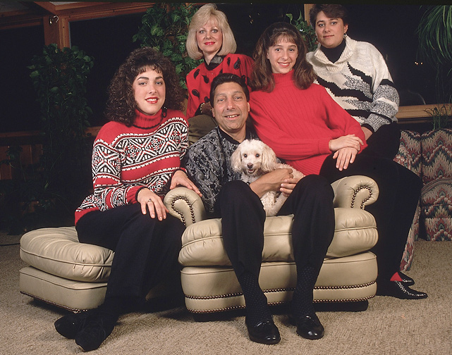 Valvano poses with his wife, Pam, and three daughters, Jamie, Nicole and Lee Ann. in January 1993. He passed away three months later.
