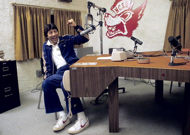During his tenure at N.C. State, Valvano made himself into one of the state's biggest media attractions, appearing almost incessantly on a statewide radio hookup, accepting speaking engagements in various towns and cheerfully promoting a soft drink, health club, fast-food chain and bank.