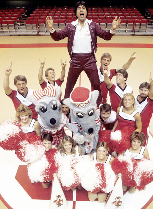 Jim Valvano would've turned 65 on Thursday. The former N.C. State coach was diagnosed with bone cancer in June 1992 and died less than a year later. He is best known for leading the Wolfpack on an improbable run to the 1983 National Championship and famously running up and down the court after the victory, looking for someone to hug. Here are some rare photos of Jimmy V: