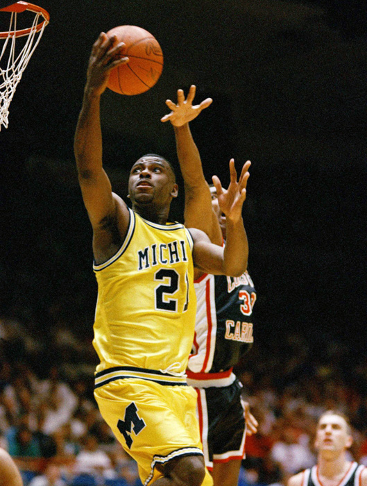 Like King, Ray Jackson was a Texas native who made the trek to Ann Arbor. At Austin's LBJ High, Jackson earned a reputation for his scoring prowess and rim-rattling dunks.