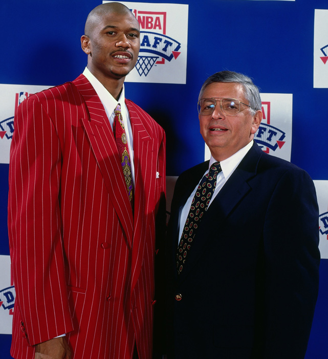 After their junior seasons, Rose and Howard declared for the NBA Draft. Howard was chosen fifth overall by the Washington Bullets. Rose was taken by the Indiana Pacers with the 13th overall pick and made fashion headlines for the red pinstripe suit he wore.