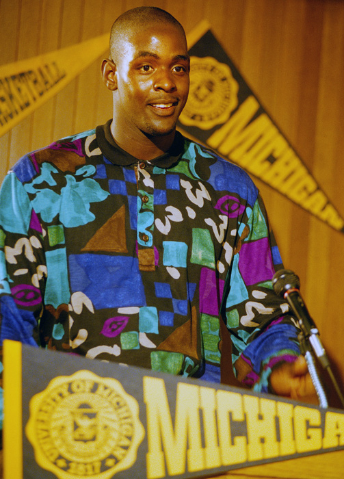 A month later, Chris Webber announced his intention to declare himself eligible for the NBA Draft, where he was taken first overall by Golden State.