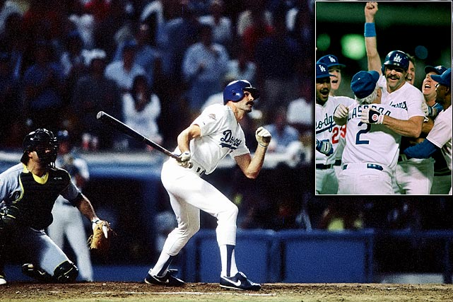Things didn't look good for the Dodgers in Game 1 of the 1988 World Series.  They were trailing the A's 4-3 in the bottom of the ninth and facing elite stopper Dennis Eckersley, who had just given them a sliver of hope by walking Mike Davis.  And then Dodgers manager Tommy Lasorda made the decision of a lifetime, calling for Kirk Gibson to pinch hit. Gibson, the 1988 NL MVP, was slowed by hamstring and knee injuries and limped to the plate.  But the injuries were a distant memory when Gibson launched Eckersley's 3-2 pitch over the right field wall for a Game 1 victory.  Who else made decisions that forever altered the course of major league history?  SI.com takes a look.