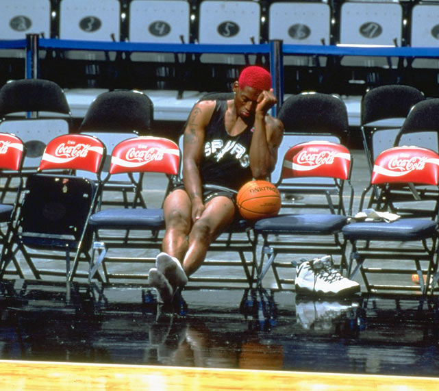 Listen, rebounding ain't easy. Not when you do it like Rodman.