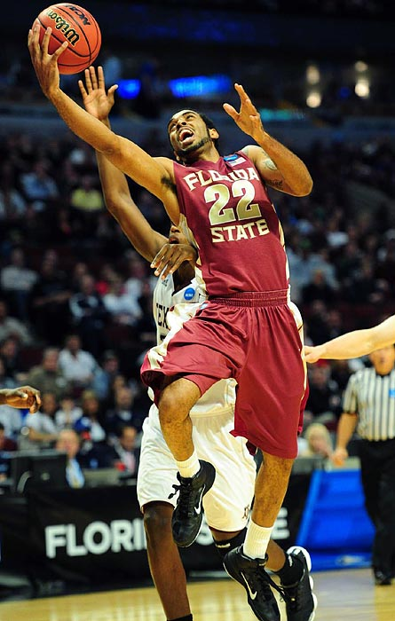 Florida State's Derwin Kitchen led the Seminoles in points (15), rebounds (seven), assists (three) and steals (two) as Florida State won its first tournament game since 1998.