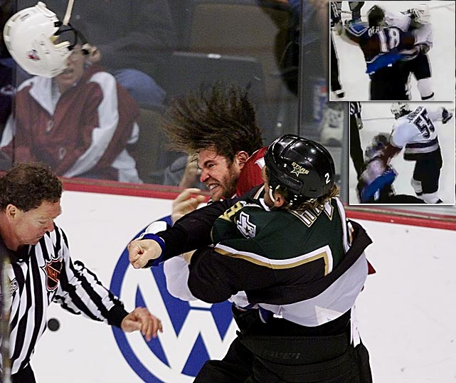 """The scrappy winger, drafted 14th overall by the Quebec Nordiques in 1993, played eight seasons in the NHL for three teams. He was seriously concussed during a fight with Ed Jovanovski of the Canucks in November 2000. Two years later, Deadmarsh was accidentally kneed in the head by a Kings teammate during practice and suffered from headaches and dizziness until his retirement in 2005. """"I've kind of been holding on and hoping and praying that I'd recover from this concussion issue that I have and I haven't been able to do that,"""" he told  The Canadian Press . """"It's one of the most frustrating injuries I think you could possibly have from a sports aspect. Unless you have concussions, it's kind of hard to explain to someone what it feels like, but you know it's something that's not supposed to be there."""""""