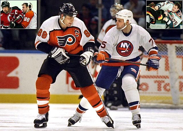 "Eric Lindros won the 1995 Hart Trophy as NHL MVP and led the Flyers to the 1997 Stanley Cup Final, but his career was diminished and ended by eight concussions that began in 1998. He suffered four during 1999-2000, one on a hit by Devils defenseman Scott Stevens in the playoffs. His health and criticism of the Flyers' medical staff became a source of friction with GM Bobby Clarke. After sitting out 2000-01, Lindros was traded to the Rangers and later retired in November 2007 after stops in Toronto and Dallas. Younger brother Brett was a first-round pick by the Islanders in 1994. He retired in 1996 at age 20 after his third concussion -- two within eight days. ""What was scary for me was each time it took longer to resolve -- my last concussion before my 20th birthday took eight or nine weeks,"" he told  The New York Times . ""Sometimes I had memory loss on the bench."""