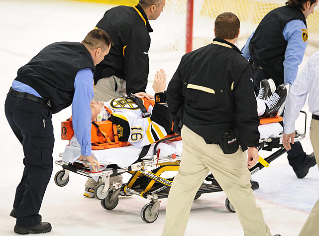 "The Bruins center had suffered concussions before he was wheeled off the ice after a hard blindside hit by Matt Cooke of the Penguins on March 7, 2010. He returned for the playoffs, but during the summer experienced headaches, depression, memory loss and fatigue, and was unable to play again until Dec. 2, 2010. A hit by Colorado's Matt Hunwick the following January likely ended his career. A year later, Savard told ESPN he was still having daily symptoms. ""I'm still hoping that something happens that I'll feel a lot better,"" he said. ""But if I feel like this, I still couldn't play.""  Savard, 35, has yet to play again and likely won't. If he retires, he'll forfeit his $4 million yearly salary that runs through 2016-17. ""For the fans that keep asking me, there is no comeback in the foreseeable future,"" he tweeted in October 2012. ""I miss the game. It has given me everything I have today."""