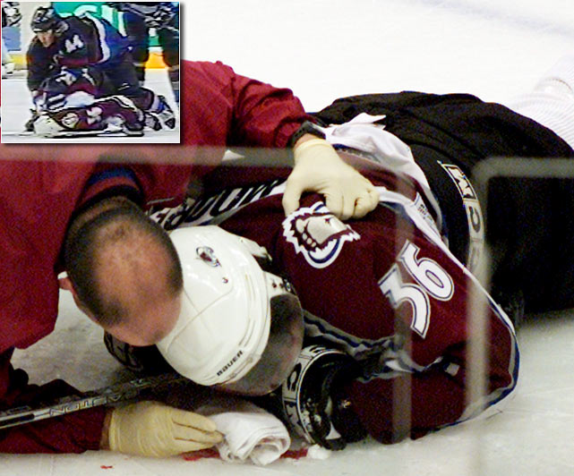 During his first full season in the NHL, the Avalanche forward's career was ended by the fractured neck and concussion he suffered after being viciously blindsided by Todd Bertuzzi of the Vancouver Canucks in 2004. Three years later, Moore was still suffering post-concussion symptoms while he trained with hope of returning to the NHL. His older brother, Mark, a seventh-round pick by the Penguins in 1997, had his career ended by a concussion before he reached the NHL.