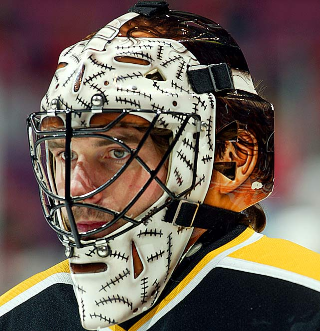 Shields made his one season with Boston a memorable one, not with stellar play between the pipes, but a reincarnation of Bruins legend Gerry Cheevers' iconic mask. Shields' shield was the first to take homage a step further with the replication of the goalie's ears and hair as well.