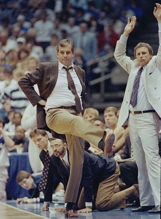 In 1986, UConn hired Northeastern coach Jim Calhoun, who has led the Huskies to three national championships (1999, 2004) and four Final Fours. He is one of eight coaches with 800 career wins. But the 2005 Basketball Hall of Fame inductee sat out the first three games of the 2011-12 season because of recruiting violations by the program.