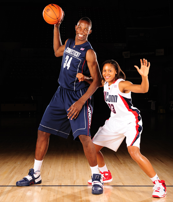 Hasheem Thabeet, a 7-foot-3-inch native of Tanzania, brought shot-blocking abilities to the UConn frontline. His 4.2 blocks per game are a hair behind Okafor's numbers for the best in school history, and he earned the 2009 NCAA Defensive Player of the Year award. In his junior season, Thabeet also led the Huskies to the Big East championship and the Final Four.
