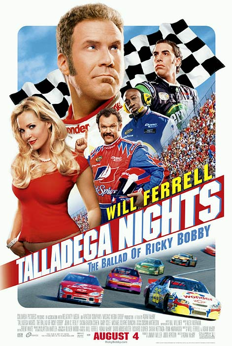 "What could be a wince-worthy lancing of NASCAR's lifestyle and fan base was actually a calculated maneuver by the sanctioning body to inject itself into the national mainstream using a big-production film and box office powerhouse Will Ferrell. Produced in conjunction with NASCAR in one of the successes of its Los Angeles entertainment division, Talladega Nights was silly and absurd, about 20 minutes too long, but often very funny laced with catchphrases. ""Mama, I'm goin' fast!"""