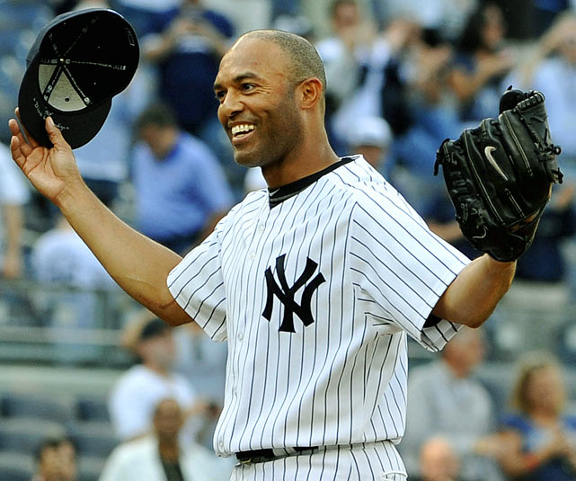 In front of a home crowd at Yankee Stadium, Mariano Rivera helped the Yankees hang onto a 6-4 victory over the Minnesota Twins for his record-setting 602nd career save. The future Hall-of-Fame closer passed Trevor Hoffman to set the record for most saves in an MLB career.