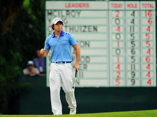 Tiger who? The 22-year-old Rory McIlroy led the U.S. Open from start to finish, setting a new course record and establishing himself as one of the premier golfers in the world. The Northern Ireland native shot a 268, four shots better than the previous U.S. Open record. He finished 16-under par, a striking number considering the last 10 U.S. Open winners have finished a combined 10-under.  McIlroy's dominant victory was especially sweet after his dramatic collapse at Augusta National two months earlier.
