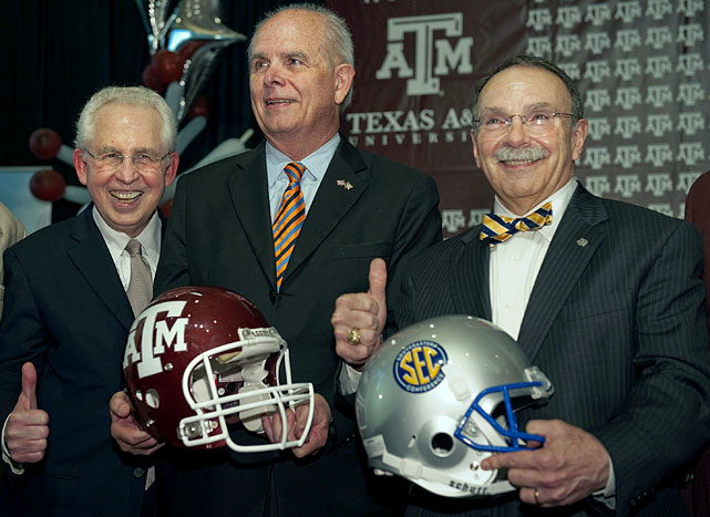 For almost a month, Texas A&M had been attempting to be the next tectonic plate to shift in the NCAA conference realignment world. The Aggies defection from the Big 12 to the SEC became official on Sept. 25, effective with the 2012 season, but it was only part of the picture. Missouri is going to the SEC as well. Syracuse and Pittsburgh are bolting from the Big East to join the ACC in 2012. West Virginia is joining the Big 12.