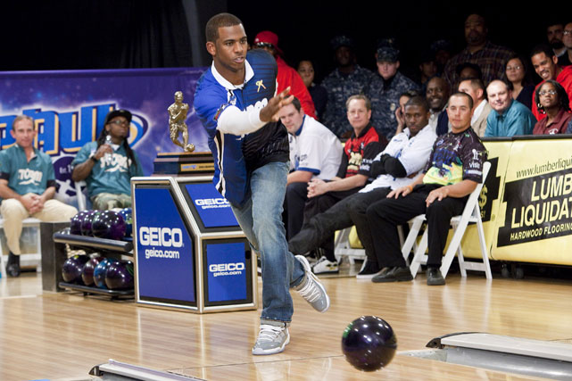 Paul, who happens to be quite the bowler, was joined by Reggie Bush and Lil Wayne in the PBA Chris Paul Celebrity Bowling Invitational in New Orleans.