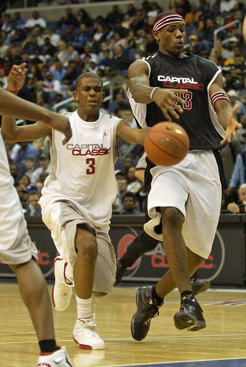 But before joining the Demon Deacons, Paul battled LeBron James in the Jordan Capital Classic in April 2003.