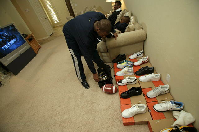 Paul, who appears quite proud of his extensive shoe collection, became one of only three athletes to get his own Jordan Brand shoe. Derek Jeter and Carmelo Anthony were the others.