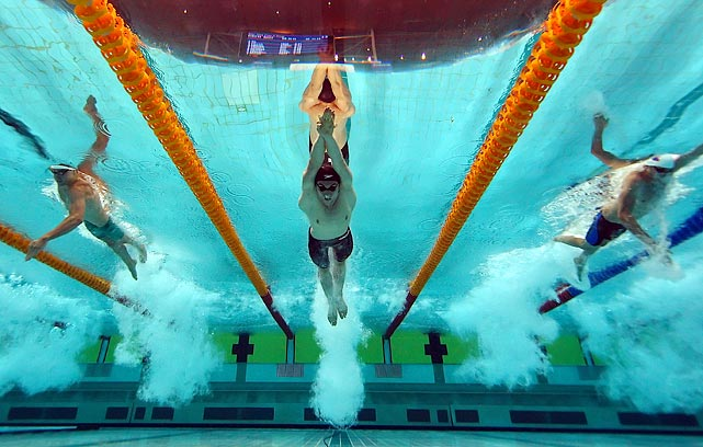 Australian swimmers were making some waves in the semifinal of the men's 50-meter freestyle at the Australian swimming championships in Sydney, Australia.