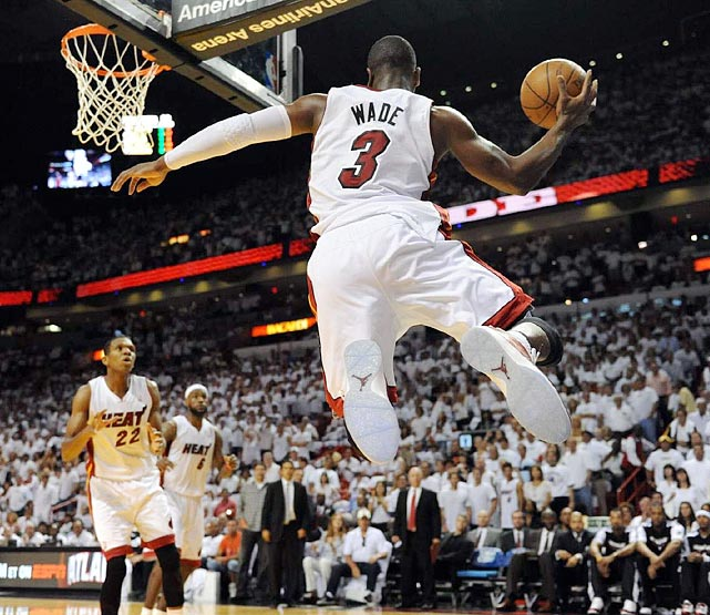 Dwyane Wade against the 76ers on Wednesday.
