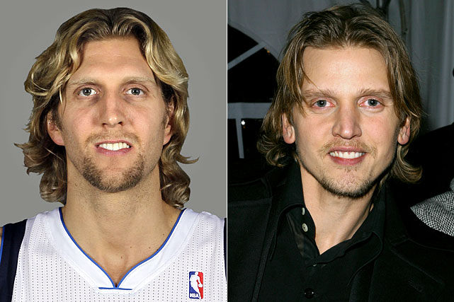Dirk Nowitzki : Dallas Mavericks forward  Barry Pepper : Actor
