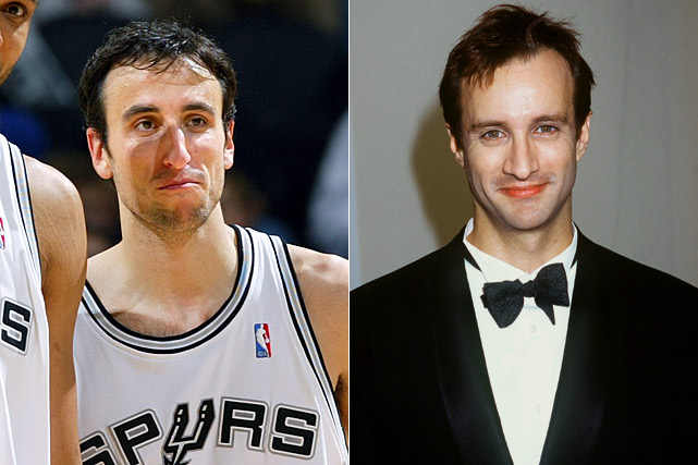 Manu Ginobili : San Antonio Spurs guard  Bronson Pinchot : Actor
