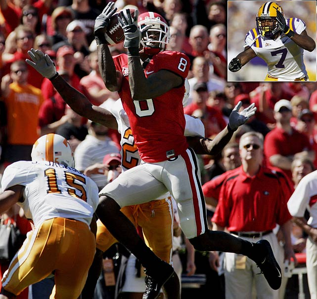 Will Pick:   A.J. Green , WR, Georgia   Should Pick:   Patrick Peterson , CB, LSU   The way Arizona figures it, a veteran QB can be had at some point before the season to get Larry Fitzgerald the ball. What else would help the Cards' best player? The top-rated receiver on most teams' boards, who could further deflect attention from Fitzgerald. I'd prefer the best corner in the draft, to boost the 29th-rated defense, improve the athleticism in the secondary and help the return game.
