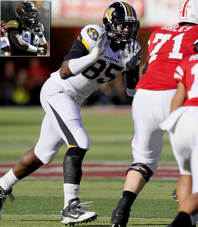 Will Pick:   Aldon Smith , DE/OLB, Missouri    Should Pick:   Adrian Clayborn , DE, Iowa   Tampa Bay is still saying novenas that Clemson defensive end Da'Quan Bowers will fall because teams are worried about the health of his knee, and it's not impossible that he'll still be available here. But these two pass rushers are safer choices. Personnel men I've spoken to are very high on Smith, but Clayborn, though he'll likely be a right end only, looks better suited to be an edge rusher than Smith.