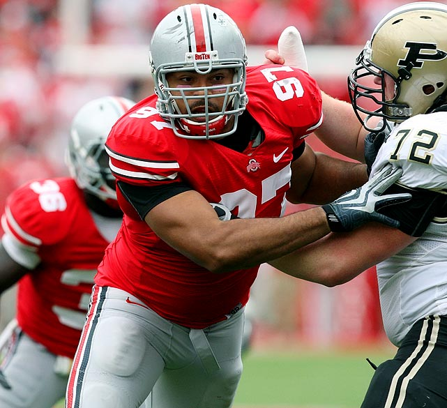 Will Pick:   Cameron Heyward , DE, Ohio State   Should Pick:   Cameron Heyward , DE, Ohio State   G.M. Ted Thompson could choose more of a rush twin for Clay Matthews in Brooks Reed from Arizona. And if J.J. Watt falls, as I project, I wouldn't be surprised if Thompson jumps up a few slots to grab him. But the 294-pound Heyward is a good fit here because he can play all over the line, and versatility in Dom Capers' scheme will be vital with Cullen Jenkins and Johnny Jolly possibly missing from the defensive front in 2011.