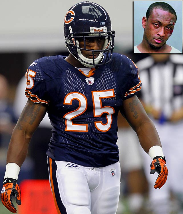 Retail theft, assaulting police officer, resisting arrestA night out at a Miami nightclub turned ugly for Chicago Bears running back Garrett Wolfe after he disputed a $1,572 bill. He ended up in a fight with an off-duty police officer and was charged with retail theft, disorderly conduct, assaulting a police officer and resisting arrest with violence.