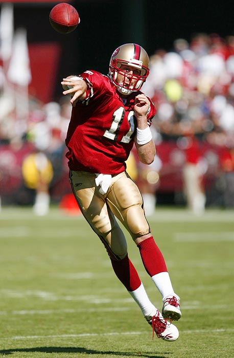 San Francisco's on-again, off-again starter has struggled with his consistency. He started every game in his second season but tossed 16 picks. The following year, he completed only 48 percent of his passes and started only seven games. He has been a serviceable starter for the 49ers since, but he hasn't been the franchise QB the team expected.