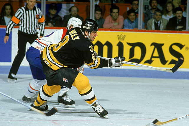 Boston had dropped 18 straight playoff series to Montreal during a span of 45 years when the Bruins broke through at last with a thumping five-game Adams Division final series triumph. Cam Neely and Steve Kasper each scored two goals in the decisive 4-1 win in Montreal.  Click here to watch the Game 5 highlights.