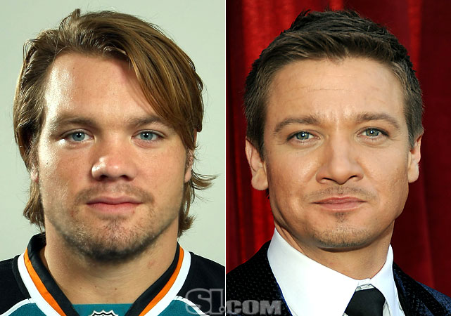 Douglas Murray  - San Jose Sharks defenseman  Jeremy Renner  - actor,  The Hurt Locker