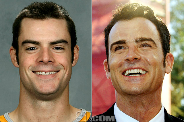 Drew Stafford  - Buffalo Sabres right wing  Justin Theroux  - actor,  American Psycho