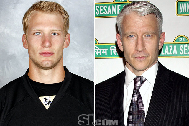 "Jordan Staal  - Pittsburgh Penguins center  Anderson Cooper  - CNN anchor,  ""Anderson Cooper 360"""