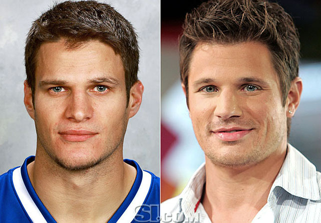 "Kevin Bieksa  - Vancouver Canucks defensman  Nick Lachey  - singer,  ""The Sing-Off""  host"