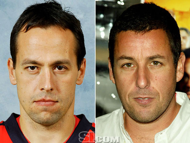 Marco Sturm  - Washington Capitals left wing  Adam Sandler  - actor,  Grown Ups