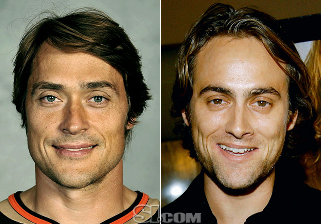 Teemu Selanne  - Anaheim Ducks right wing  Stuart Townsend  - actor,  Queen of the Damned