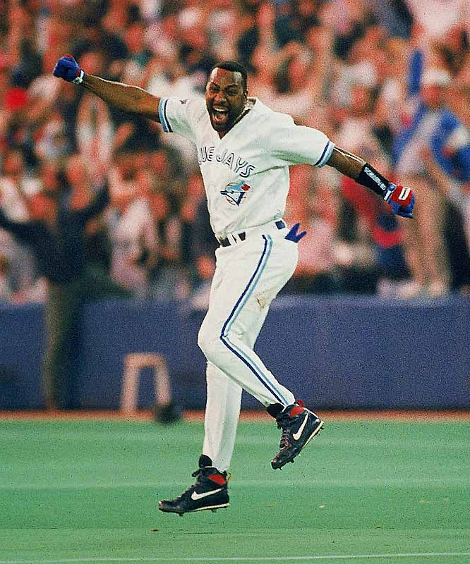 Philadelphia was on the brink of forcing a Game 7 against the favored Blue Jays in the 1993 World Series. Toronto had led 5-1 early in Game 6, but by the time slugger Joe Carter stepped to the plate in the bottom of the ninth, his team trailed by a run. Carter worked the count and swatted an inside fastball over the left-field fence to lock up the Blue Jays' second straight world championship. It was only the second time a World Series ended on a walk-off home run.