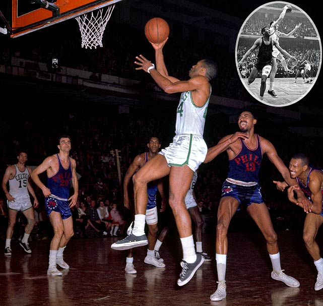 "In one of the most famous finishes in NBA history, Boston's all-time leading scorer came up big on defense. The Celtics were clinging to a one-point lead in Game 7 of the 1965 Finals, but Wilt Chamberlain and the 76ers threatened to end Boston's dynasty. In the waning seconds, John Havlicek snuck in front of Philadelphia's Chet Walker and intercepted the inbounds pass to seal the series win for the Celtics. Longtime Boston announcer Johnny Most's radio call -- ""Havlicek Stole the Ball!"" -- is one of the most well-known in basketball history."