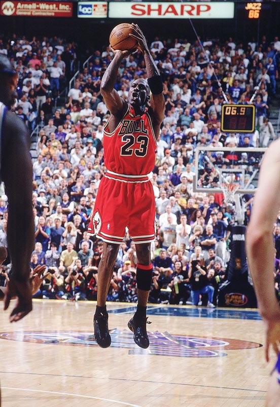 The greatest player of all-time had the ball, his team down a point and his sixth championship one basket away in 1998. Michael Jordan shook defender Byron Russell (with a slight push) and got a clean look from near the free-throw line. With that, Jordan had his perfect ending -- at least in a Bulls jersey. Although he came back later to play for the Wizards, MJ's shot against Utah is the lasting image of his career.