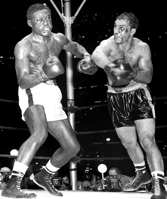 A relative latecomer to the sport, Rocky Marciano started boxing while in the service during WWII. His amateur career was solid -- an 8-4 record. But once he turned pro, he never lost again. Along the way, the Brockton Blockbuster beat Joe Louis and earned the heavyweight title with a 13th-round knockout of Jersey Joe Walcott. Marciano was only 32 when he retired.