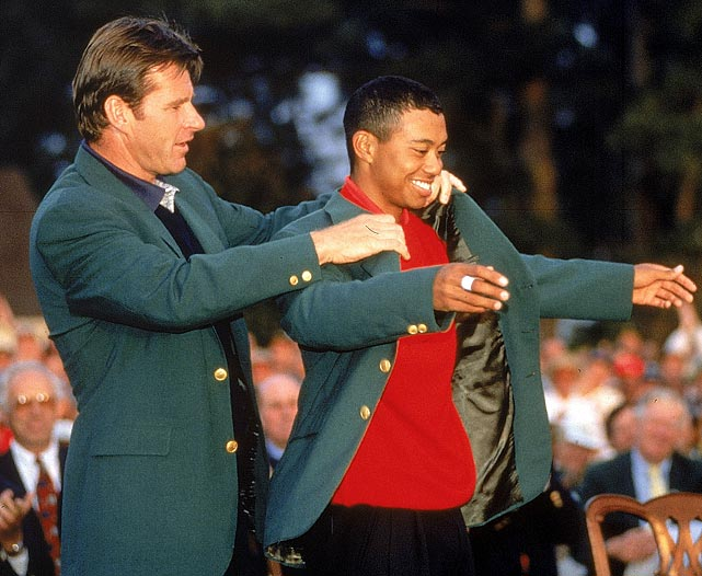 Former Stanford star Tiger Woods became the youngest Masters winner ever when he destroyed the field with a record score of 18-under par to win by 12 strokes in 1997. Woods was also the first African-American to win the tournament. He has since added three more green jackets.