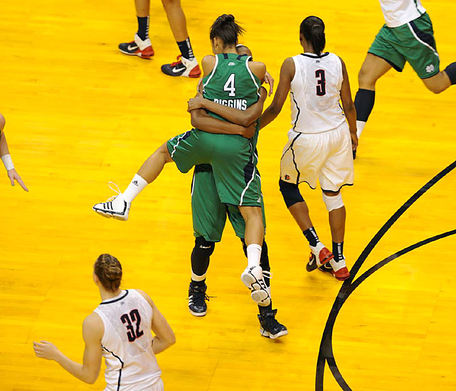 Prior to their Final Four upset, Skylar Diggins and the Irish had lost to Connecticut three times by an average deficit of 11 points.