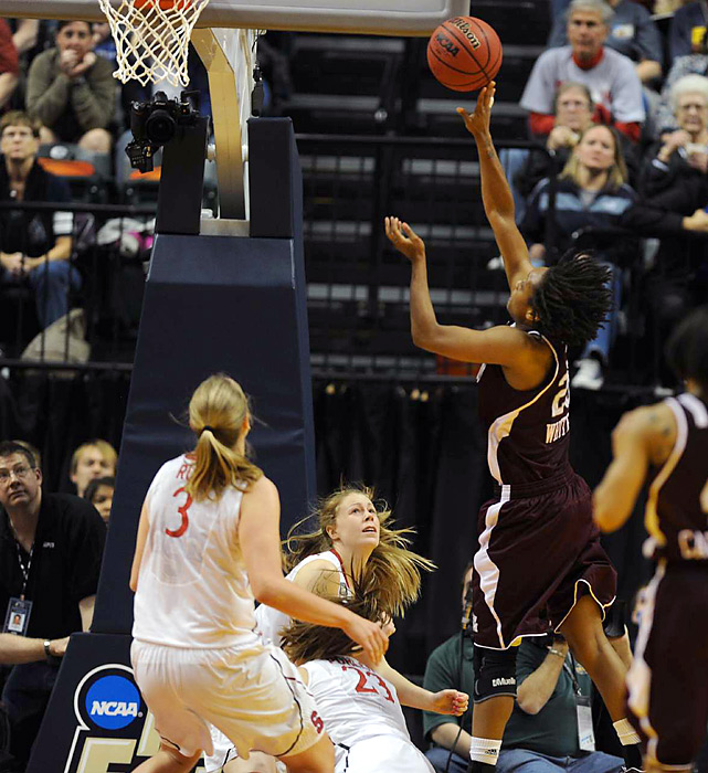 If Texas A&M should win the national title on Tuesday, Tyra White's game-winning layup against Stanford will be remembered forever. With the Aggies down one in the waning seconds, guard Sydney Colson drove the length of the court and set up White for an easy, yet pressure-packed layup to ice the upset.